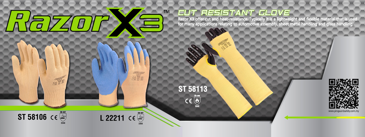 Aramid yarn cut resistant glove and Sleeve