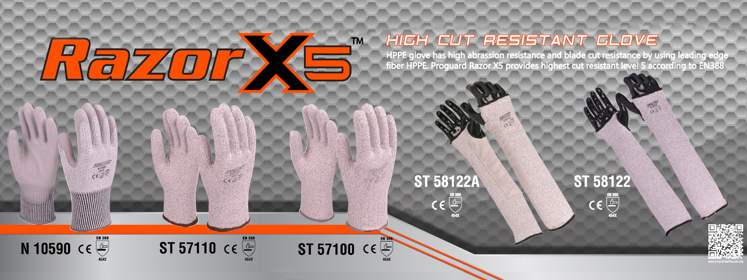 Razor X5 - High Cut Resistant Glove